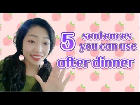 吃饱了 5 sentences you can use after dinner