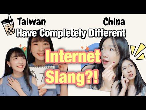 台湾和大陆的流行语 Taiwan vs Mainland Internet Slang