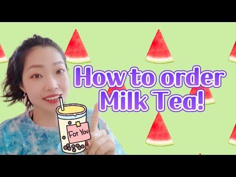 点奶茶 How to order milk tea in Chinese?